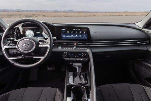 Interior of Hyundai Elantra