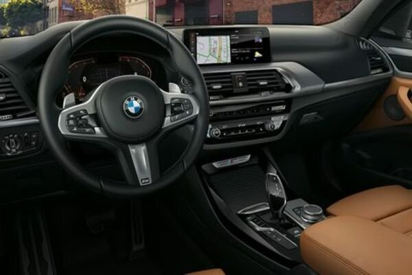 The stylish interior of the BMW X3