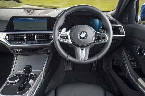 BMW M4 dashboard and steering wheel