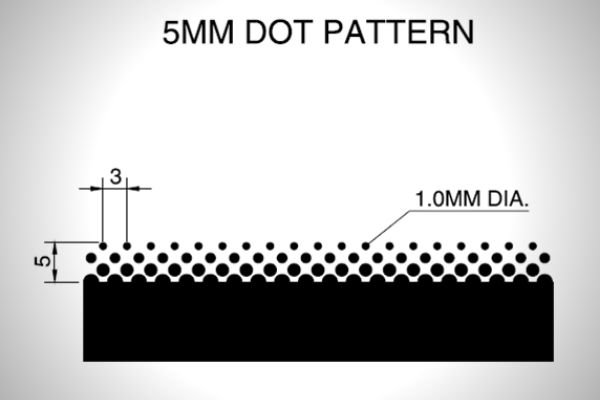 A picture of a car window frit pattern