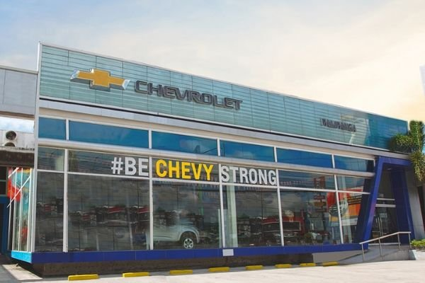 A picture of a Chevrolet dealership in the Philippines