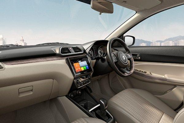 Interior if Suzuki Dzire