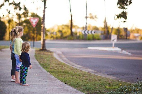 Kids in the road side