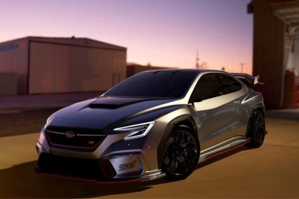 A picture of the Viziv STI concept with a 3D generated background
