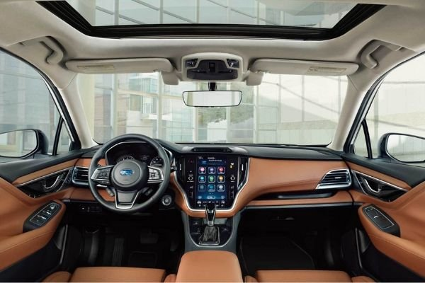 A picture of the Subaru Legacy's interior