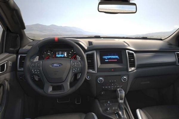 A picture of the Ranger Raptor's interior