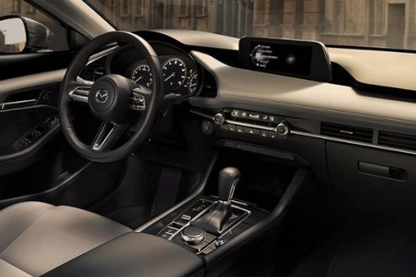 A picture of the interior of the Mazda 3