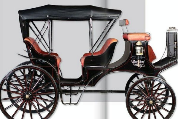 A Montana Carriage Company Electric Horse-Drawn Carriage