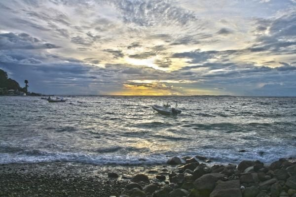 A picture of sunset in Anilao Batangas