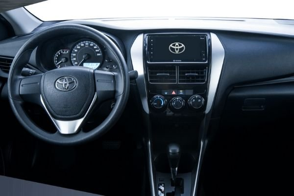 A picture of the dashboard of the Toyota Vios