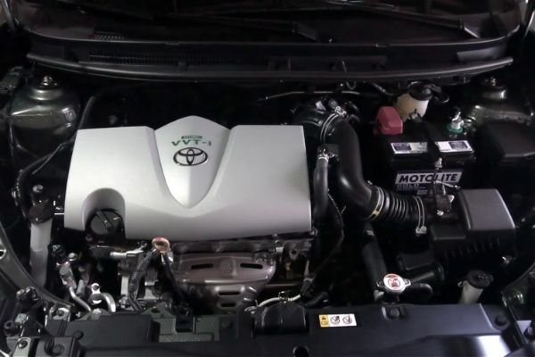 A picture of the Toyota Vios' engine