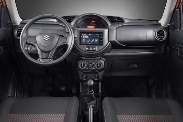 A picture of the interior of the Suzuki S-presso