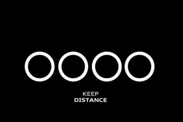 Audi social distancing logo