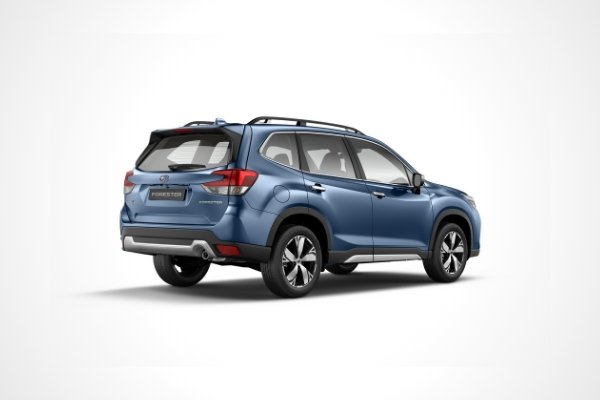 Rear view of the Subaru Forester