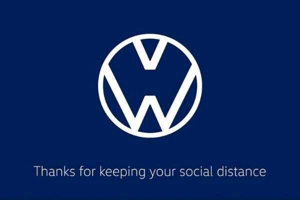 VW social distancing logo