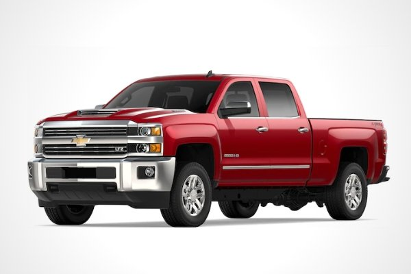 A Chevrolet Silverado HD with white background