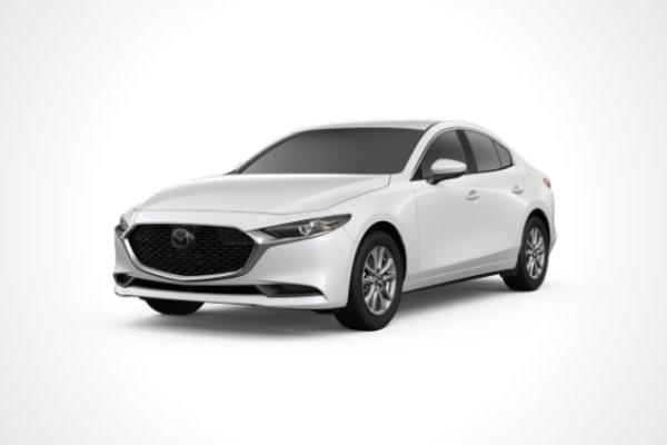 A white Mazda3