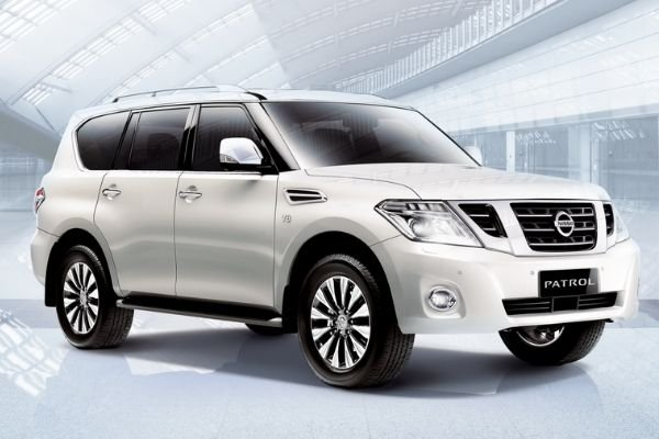 A picture of a white Nissan Patrol Royale