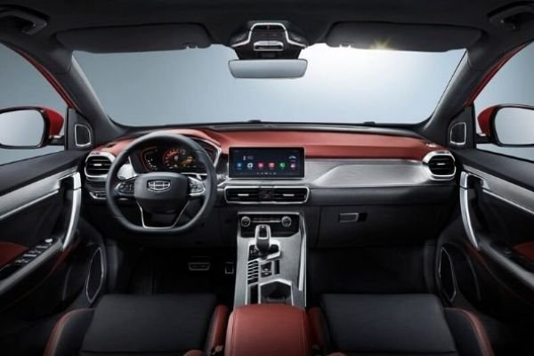 A picture of the Coolray Sport's interior