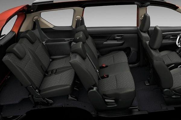 A picture of the interior of the Suzuki XL7