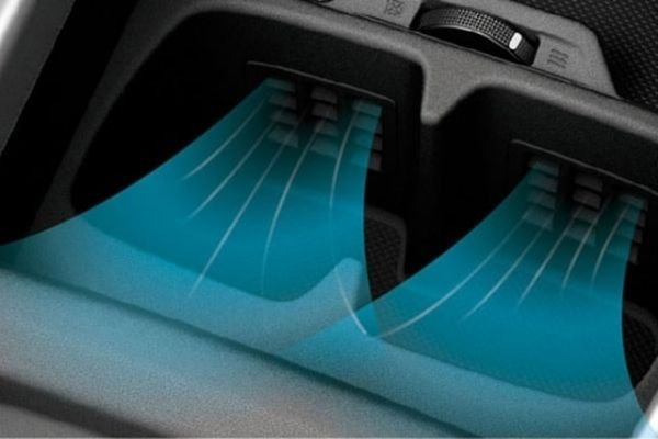 A picture of the ventilated cupholders on the Suzuki XL7