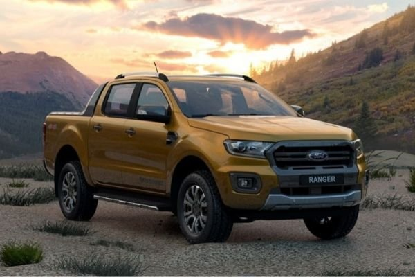 A picture of the front of the Ford Ranger Raptor