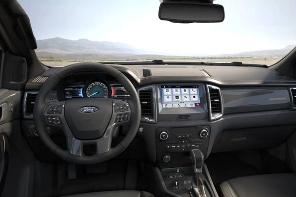 A picture of the Ford Ranger Wildtrak's interior