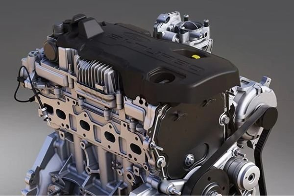 A picture of the 2.0 liter Biturbo engine on the Ranger Wiltrak Biturbo