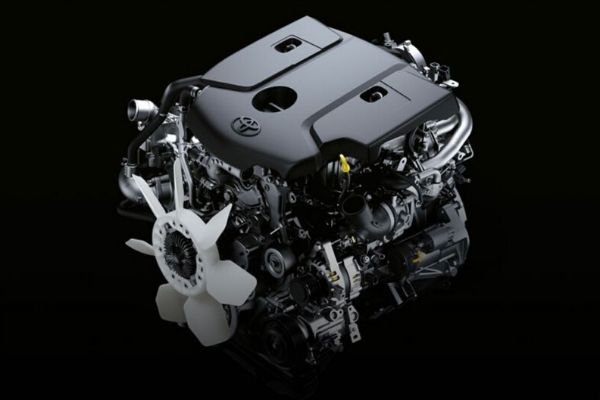 A picture of the Toyota Hilux's engine