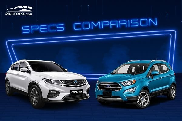 A picture of the Ecosport and the Coolray head to head
