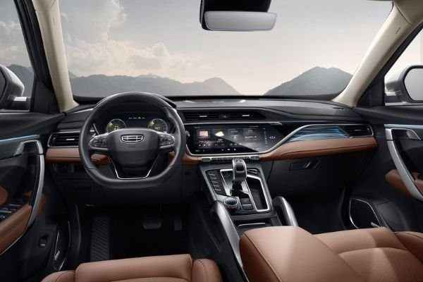 A picture of the interior of the Geely Azkarra