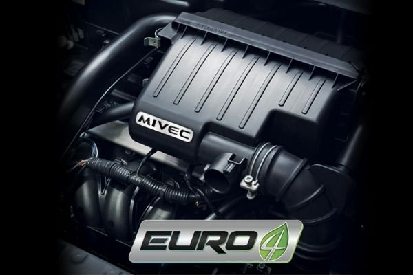 A picture of the Mirage hatchback's engine