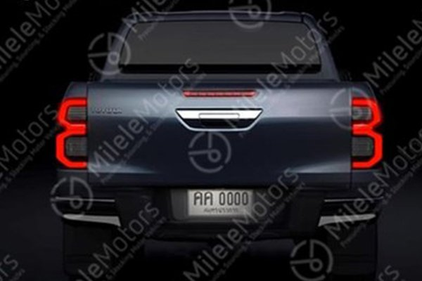 rendering of supposed 2021 Toyota Hilux rear