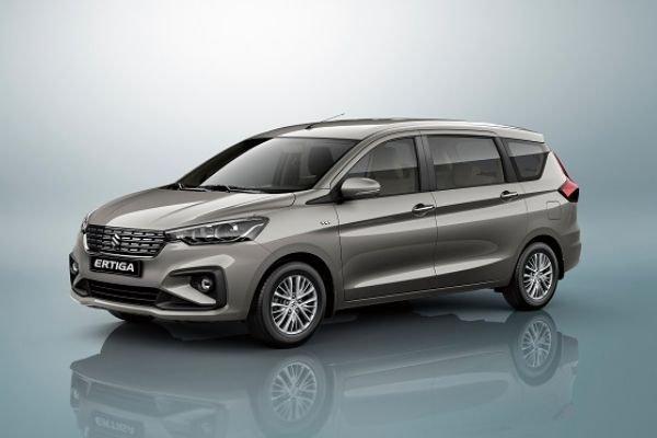 A picture of the front of the Suzuki Ertiga