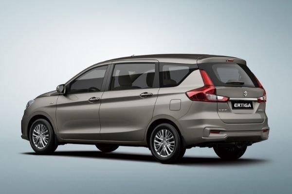 A picture of the rear of the Suzuki Ertiga