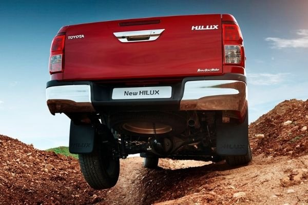 A picture of a Hilux going off roading