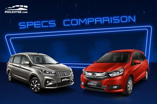 A picture of the Ertiga and the Mobilio head to head