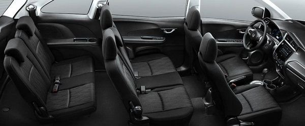 A picture of the seats of the Mobilio