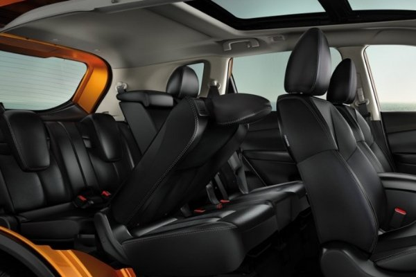 Interior view of the X-Trail