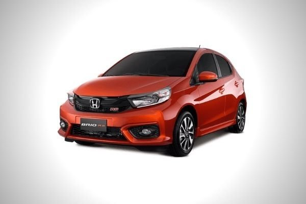 A picture of the front of the Honda Brio