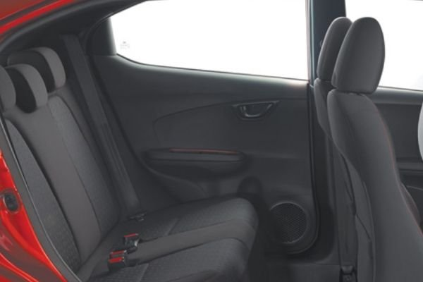 A picture of the Brio's rear seats