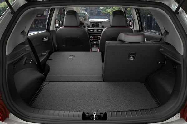 A picture of the Picanto's rear seats