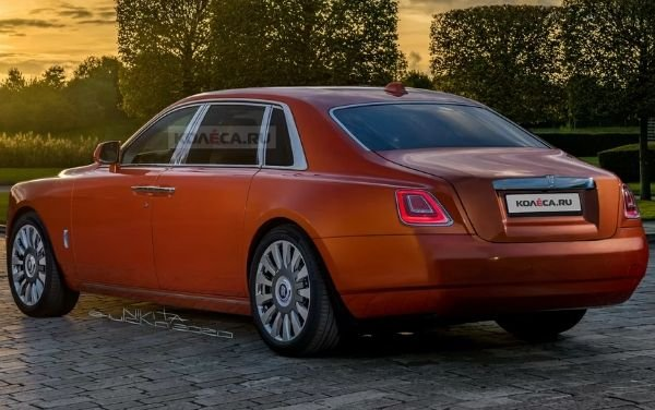 A picture of a the new Rolls-Royce Ghost render