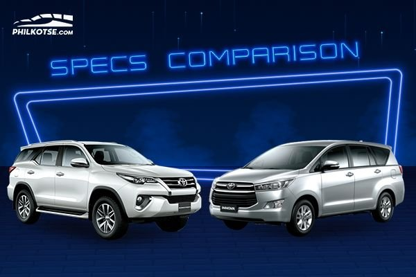 A picture of the Fortuner and the Innova head to head