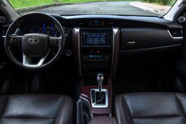 A picture of the interior of the Toyota Fortuner