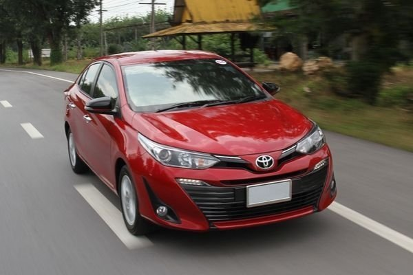 A Vios on the road