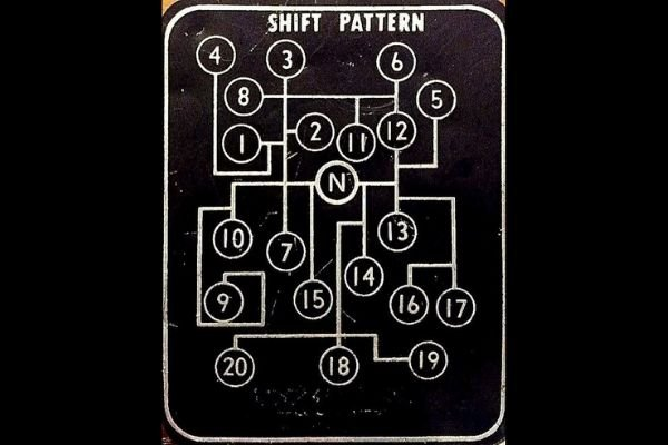 A picture of a very complicated shift pattern from a truck
