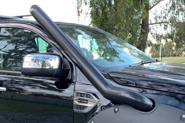 A picture of a snorkel installed on the Ranger Raptor