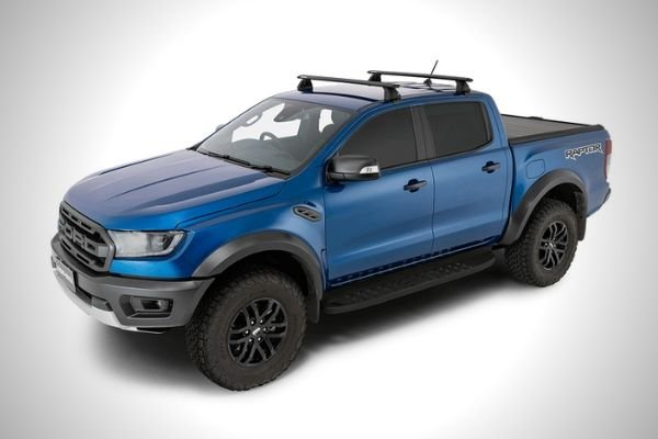 A picture of the Ranger Raptor with a roof rack