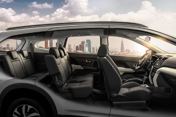 A picture of the Toyota Rush showing its interior